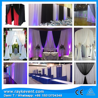 RK lightweight pipe and drape system, side drape wedding dress, wedding decoration water fountain