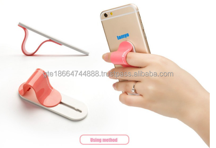 New design finger grip sticky finger clip holder stand for mobile phone, Customized Logo finger grip for mobile phone