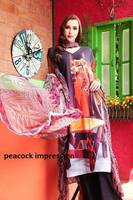 Three piece Digital Print lawn Swiss voile salwar kameez suit in Peacock Impression digital print /wholesale salwar kameez india