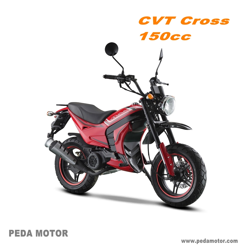 (PEDA ITALY MOTOR) 2017 New Cross Dirtbike Automatic transmission motorcycle 125cc 150cc Moped Gasoline (CVT Scooter)