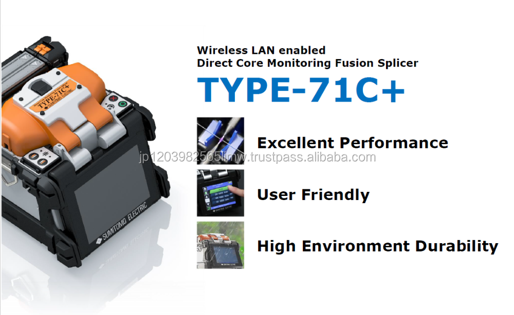 SUMITOMO ELECTRIC Direct Core Monitoring Optical Fusion Splicer TYPE-71C+