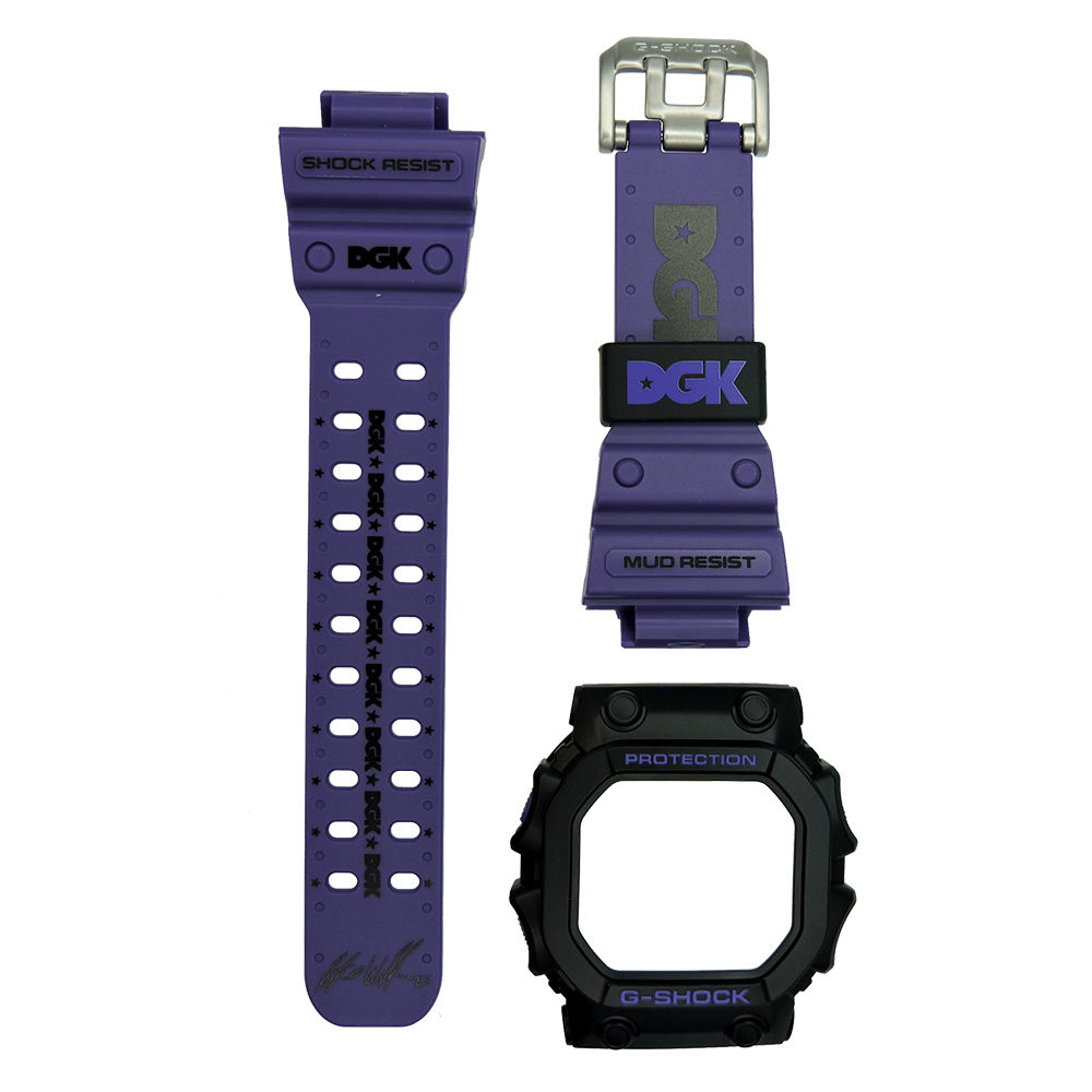Casio G-Shock GX-56DGK-1 Watch Replacement Band and Bezel Resin Purple Color Authentic