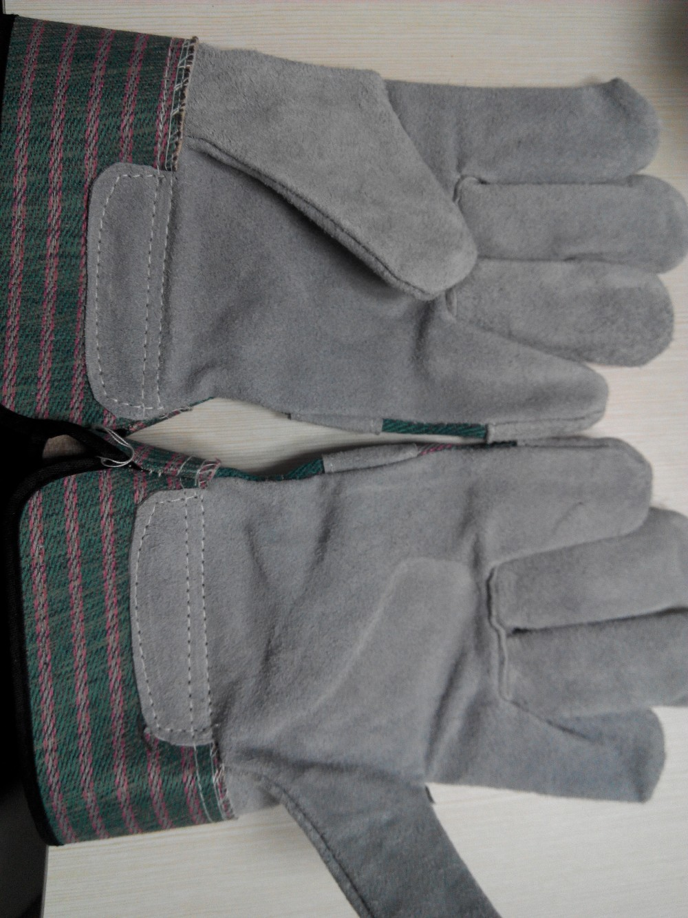 Cow split rigger gloves/ leather work gloves