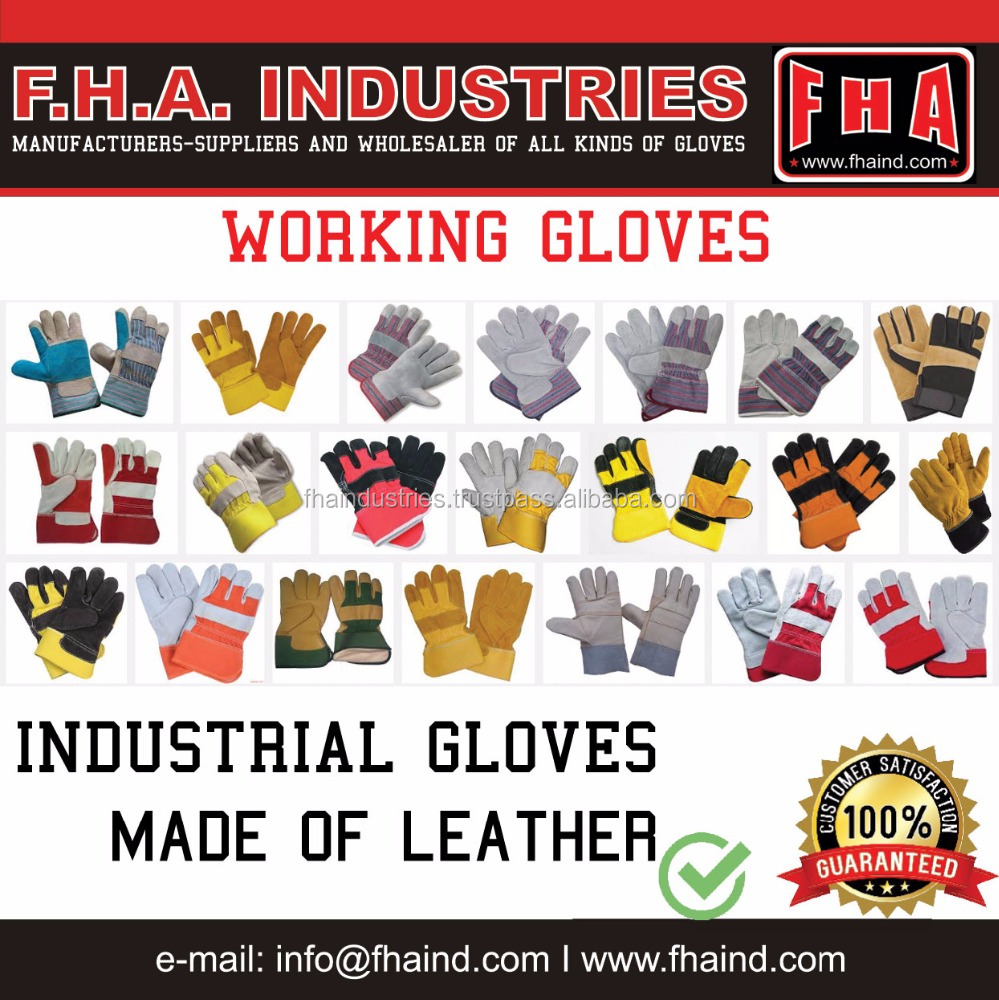 Working gloves / Welding Safety industrial 707 10.5 inch Gloves/ Cow Split Leather cheap price OEM-ODM Supplier Sialkot Pakistan