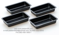 disposable plastic sushi tray, 1 piece,PS,black.or Custom Molded Plastics, Plastic Injection Molding-Custom Molds,Thermoforming.
