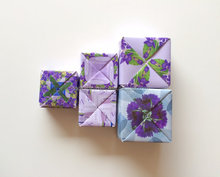 Set of Boxes made from recycled paper for Origami Purple Theme-wedding favors-Wedding Paper Box-Origami Violet Gift Box-Recycled