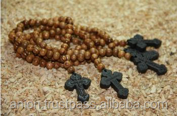 High Quality Exquisite Olive Wood Rosary with Limited Edition of Holy Land Cross