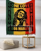 Bob Marley One Love Queen Tapestry Indian Hippie Bedspread Boho Wall Hanging