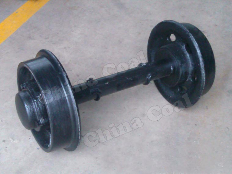 Tunnel Mining Car Steel Rail Wheel Set, Carbon Wheel Set, Steel Wheel Rim