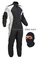 Professional Black Velcro Belt Go Kart Customized Karting Wear Racing Suit