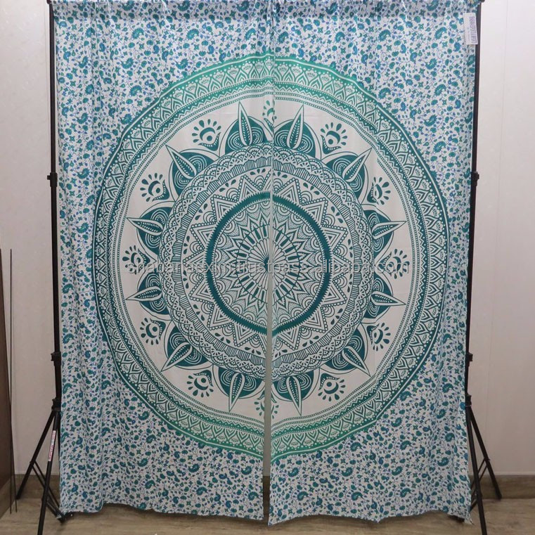 Indian Hippie Mandala Tapestry Curtains Wall Hanging Bohemian Valances Decor Boho Room Separator