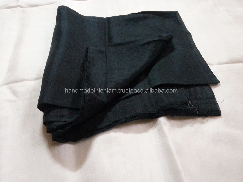 100% black silk fabrics for making clothes, sleeping bags, shawls... size 85cm height x 500cm length