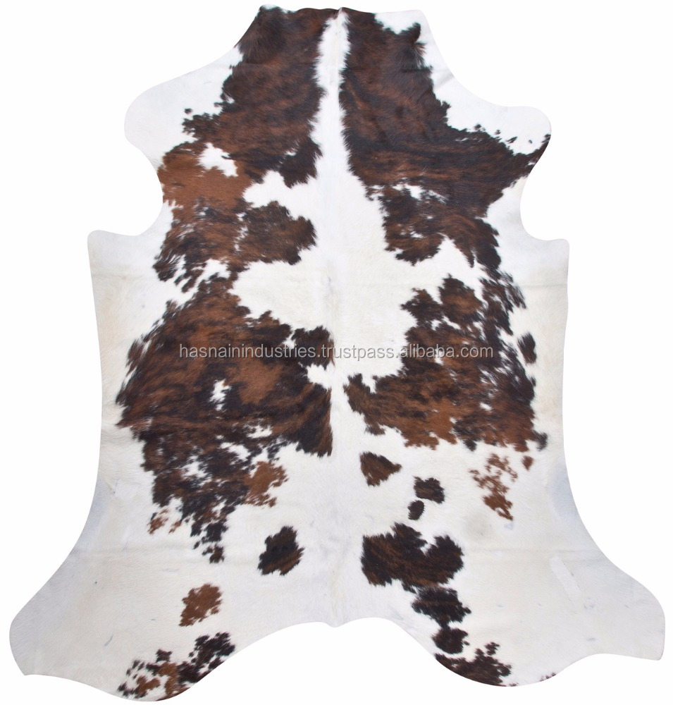 Superior hair on skin cow hide rug
