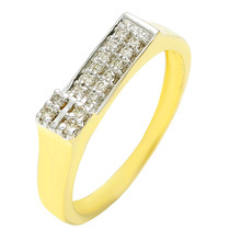 Stylish Fashionable Light Weight Gents 18k yellow gold Diamond Ring