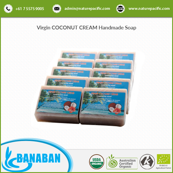 BANABAN Virgin COCONUT CREAM Handmade Soap 10 x 120g