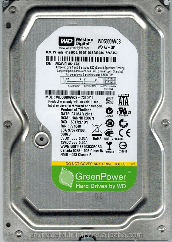 500GB Internal Hard drive