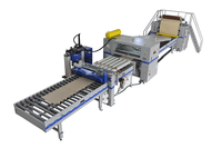 PUR, EVA Hotmelt, Solvent based wrapping machine for profiles and panels
