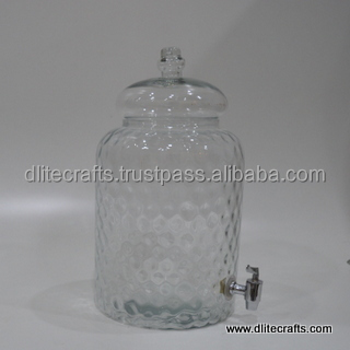 Glass Water Cooler , Clear Glass Water Cooler, Glass Jug With Tap , Glass Tube With Jug