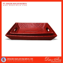 Pandanus Tapered Tray Set Of 2