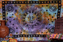 Sun And Moon Tapestries Indian Psychedelic Wall Hanging Cotton Dorm Bedspread Throw