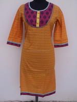 Plain dyed cotton tunic kurits / India best manufacturer womans garments