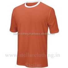 Printed ringer t shirt for men custom logo for team wear