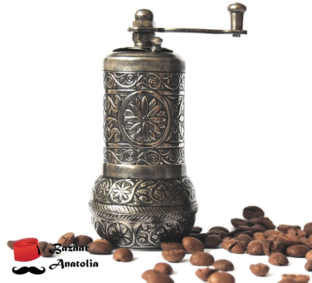 Turkish Pepper Mill Coffee Seed Spice Herb Grinder Vintage Hand Mill