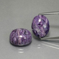 Violet Charolite Cabochon Calibrated Gemstone Mixed Shape Polished Cut Stone Gemstone Manufacture Loose Gems