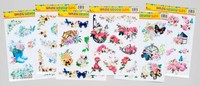 SPRING WINDOW CLINGS 6ASST BUTTERFLY/FLORAL THEME 36PC PDQ #G23184