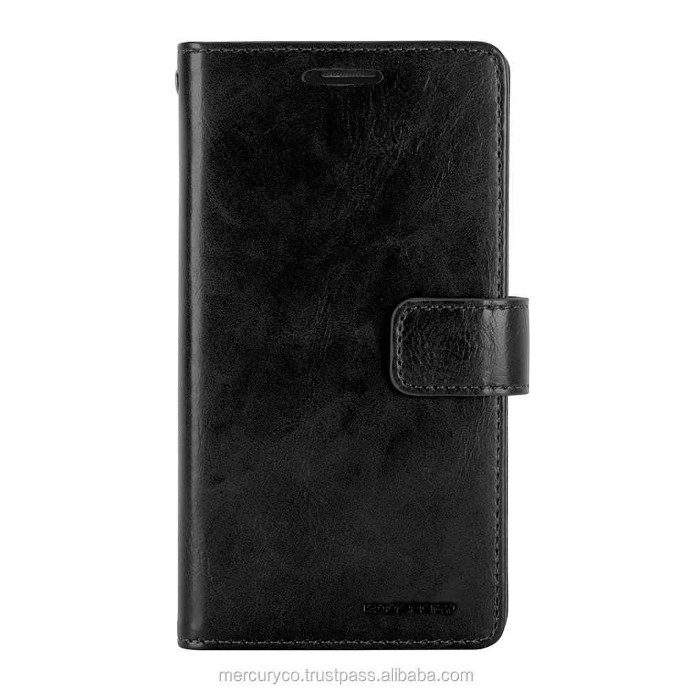 PU leather diary phone case Mercury Mansoor Diary (Black)