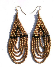 Sample Free Big Hoop Three Color Seed Beads Earrings Design