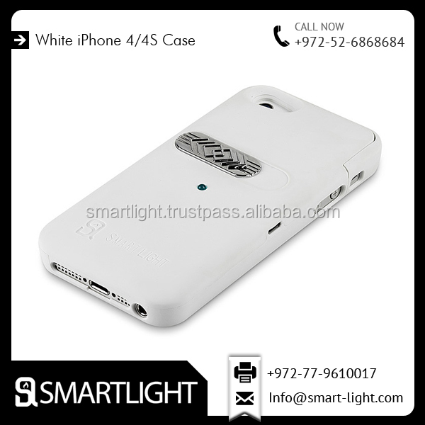 Hard White Mobile Lighter Cover Case For iPhone 4/4S
