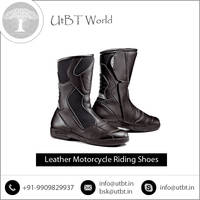 Highly Demanded Easy to Wear Leather Motorcycle Riding Shoes at Factory Price