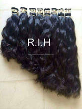 Unprocessed Temple Hair Body Wave, Raw Unprocessed Mongolian Wavy hair Extension