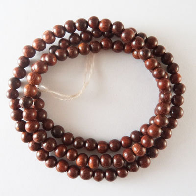 Red Sandal Wood Beads 6mm