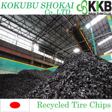 2 inches shredded tyre scrap, Recycled Tire Chips for Fuel from Japan