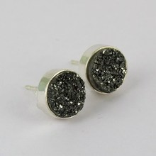Most Stunning Design !! 925 Titanium Druzy Silver Sterling Gemstone Jewelry Earring, Deal's Today in Wholesale Price