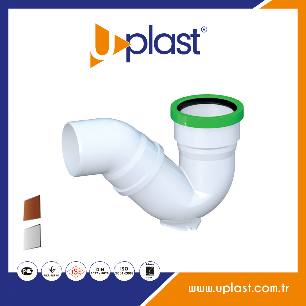 PVC pipe fittings 45 degree S siphon