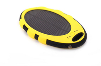 fashion waterproof solar panel power bank charger for iphone xiaomi power bank