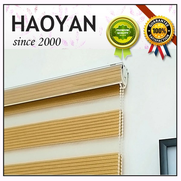 Dubai market high quality of the blackout roller zebra blind fabric