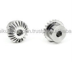 Mini straight miter gear Module 0.8 Stainless steel Ratio 1 Made in Japan KG STOCK GEARS