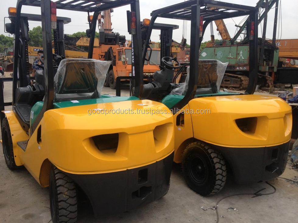 Used Japan forklift komatsu 3 ton for sale , FD30T-16 , Diesel Engine