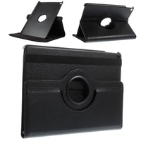 360 Degree Rotary Stand Litchi Grain Leather Case for iPad Air 2