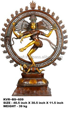 Bronze Lord Shiva as Nataraja (Large Statue)