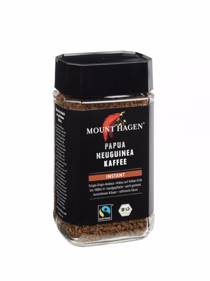 Mount Hagen Organic Fairtrade Instant Coffee PNG, 100g