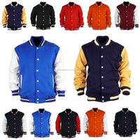 Custom Men Varsity Jacket / Versity Man Jacket Wholesale / Winter Leather Jacket winter leather varsity jacket