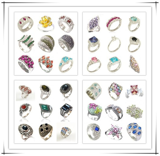 (IGC) High Quality AAA 925 Silver rhodium plated Created Stone Jewelry