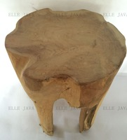 Teak Root Furniture Stool 4 legs round stool 40x30cm home decoration