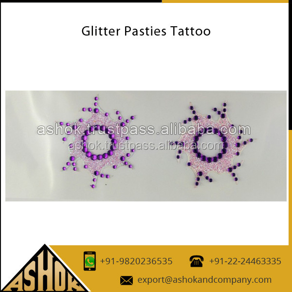 Nipple Cover tattoos Custom Sticker / Exporter of indian bellies temporary Adult waterproof Tattoos sticker
