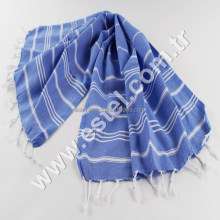 Blue Palace Hand Towel 100% Turkish Cotton Hand-loomed, Bath Beach Towel Peshtemal